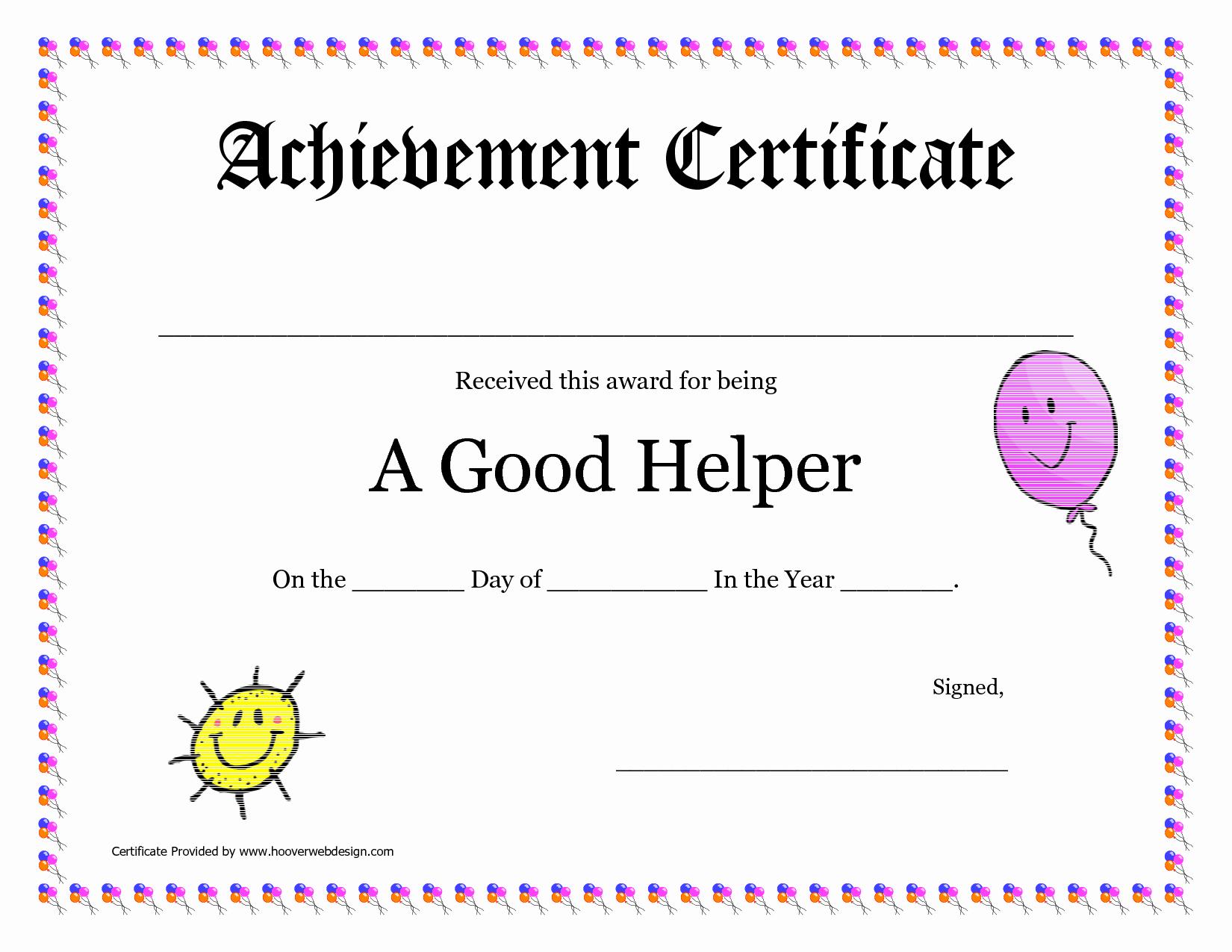 Free Printable Award Certificates New Printable Award Certificates for Teachers