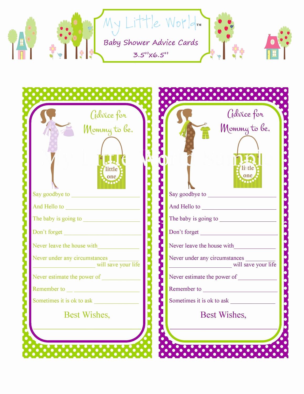 Free Printable Baby Shower Card Elegant Printable Mommy to Be Advice Cards Baby Advice Cards Print