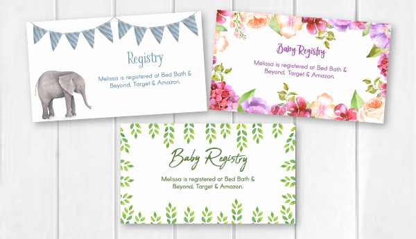 Free Printable Baby Shower Card Inspirational Editable & Free Printable Baby Registry Cards to