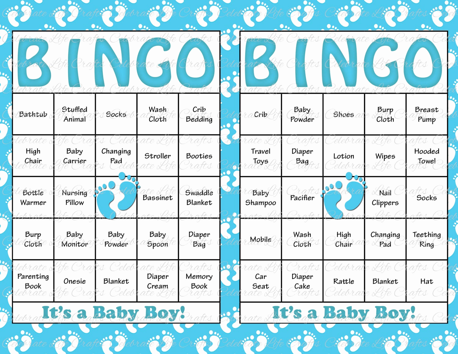 Free Printable Baby Shower Card Lovely 30 Baby Shower Bingo Cards Printable Party by