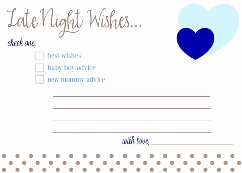 Free Printable Baby Shower Card Luxury Free Printable Baby Shower Advice & Best Wishes Cards