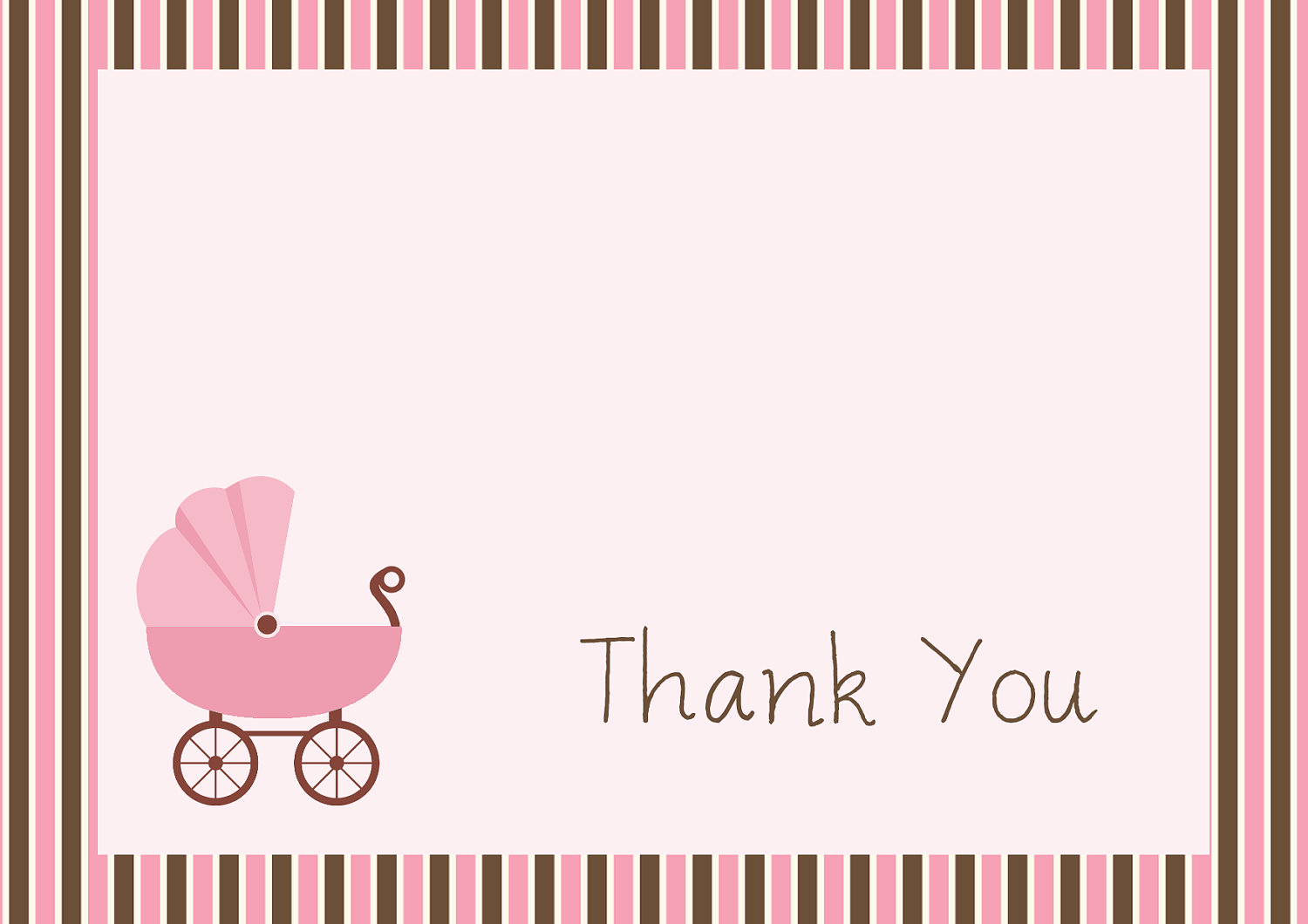 Free Printable Baby Shower Card Unique 34 Printable Thank You Cards for All Purposes