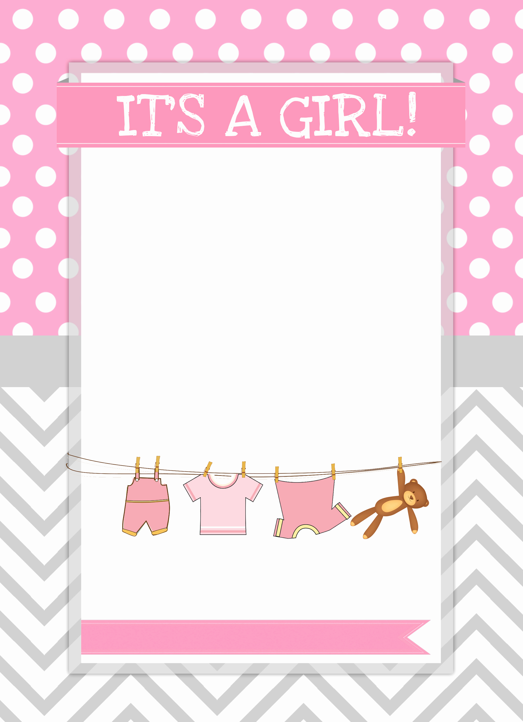 Free Printable Baby Shower Card Unique Baby Girl Shower Free Printables How to Nest for Less™