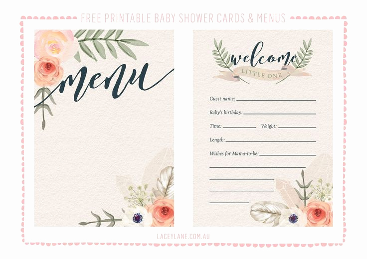 Free Printable Baby Shower Card Unique Free Printables ♥ Vintage Boho Baby Shower Cards