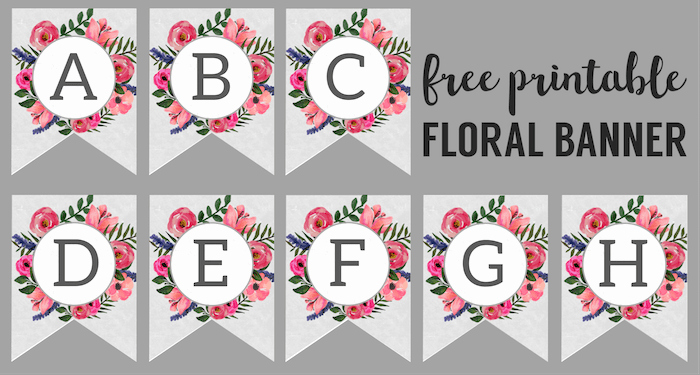 Free Printable Banner Letters Best Of Floral Alphabet Banner Letters Free Printable Paper