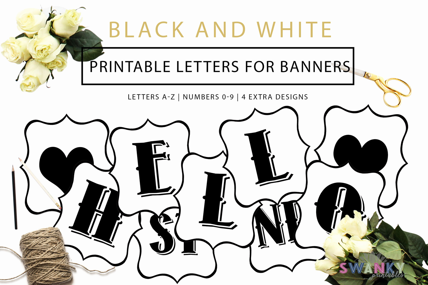 Free Printable Banner Letters Elegant Free Printable Black and White Banner Letters