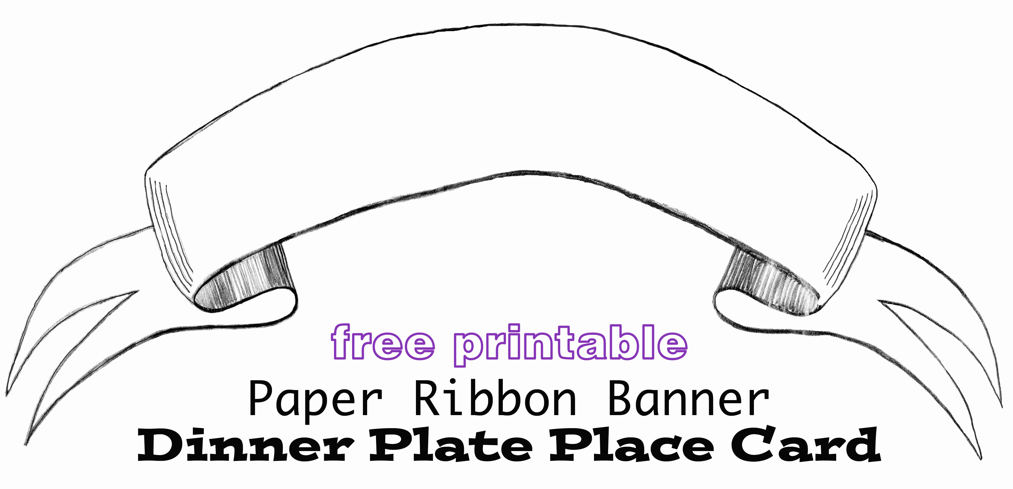 Free Printable Banner Templates Elegant Printable Paper Banner Dinner Plate Place Card In My Own