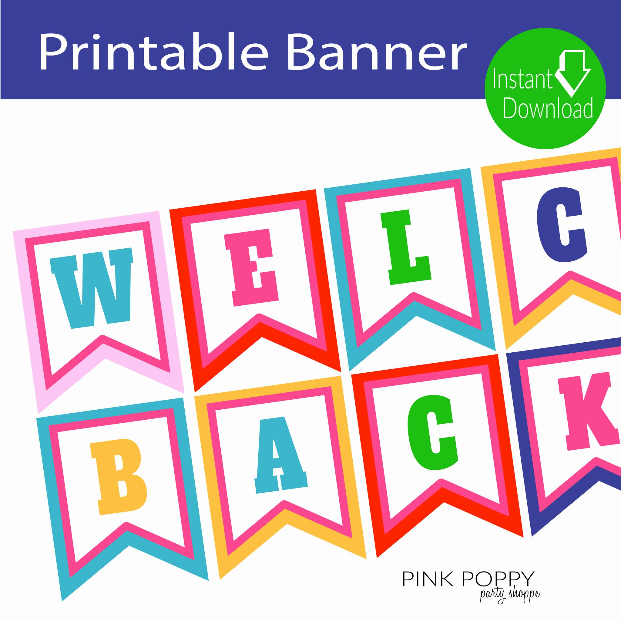 Free Printable Banner Templates New Free Printables Wel E Back Banner Edukacja