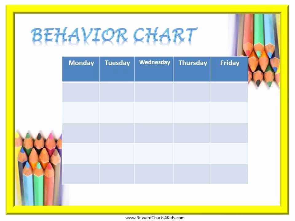 Free Printable Behavior Charts Inspirational Free Printable Behavior Charts