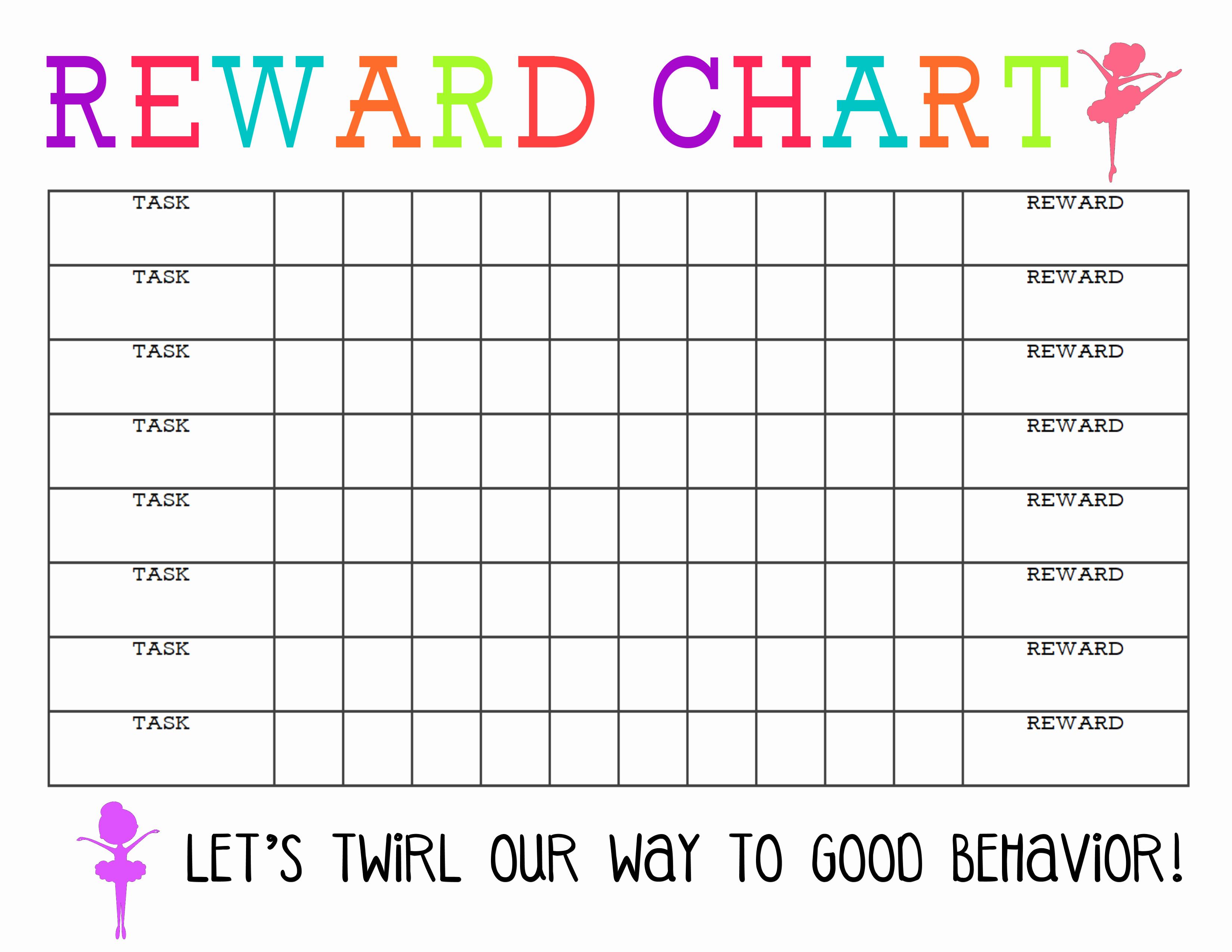 Free Printable Behavior Charts Inspirational Printable Reward Chart the Girl Creative