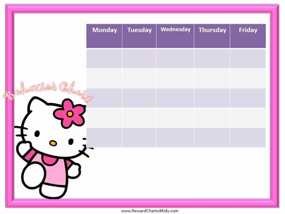Free Printable Behavior Charts Lovely Hello Kitty Behavior Chart