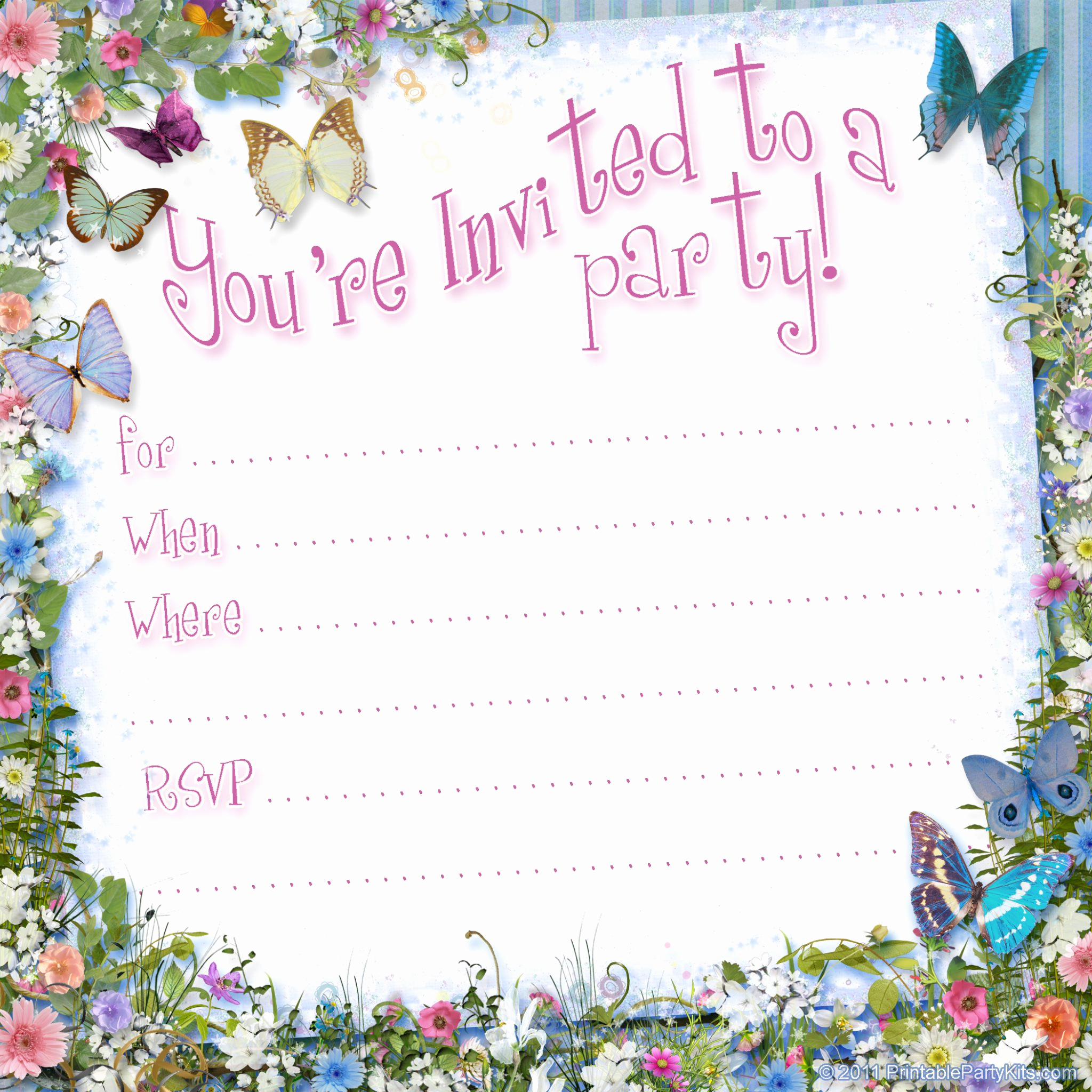 Free Printable Birthday Invitation Templates Unique Free Printable Invitations On Pinterest