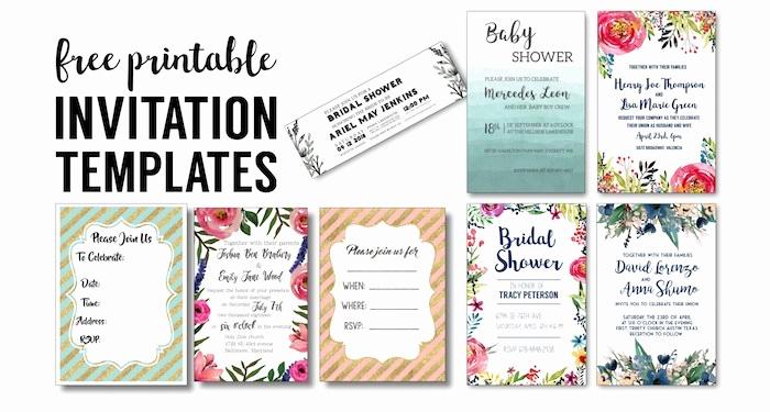Free Printable Bridal Shower Invitations Awesome Party Invitation Templates Free Printables Paper Trail