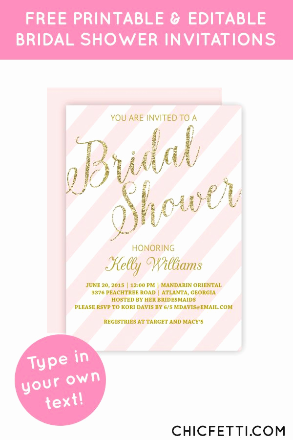 Free Printable Bridal Shower Invitations Beautiful 343 Best Images About Free Printables On Pinterest
