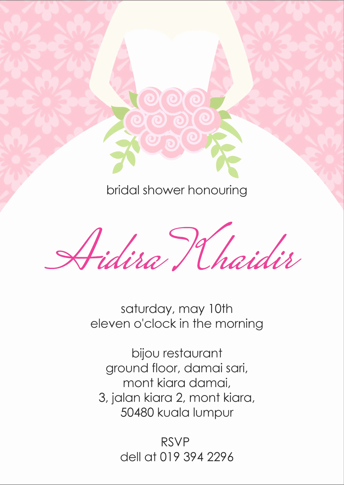 Free Printable Bridal Shower Invitations Beautiful Your One Stop Wedding Centre Ts Deco Favors and