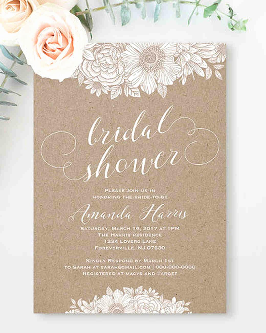 Free Printable Bridal Shower Invitations Lovely 10 Affordable Bridal Shower Invitations You Can Print at