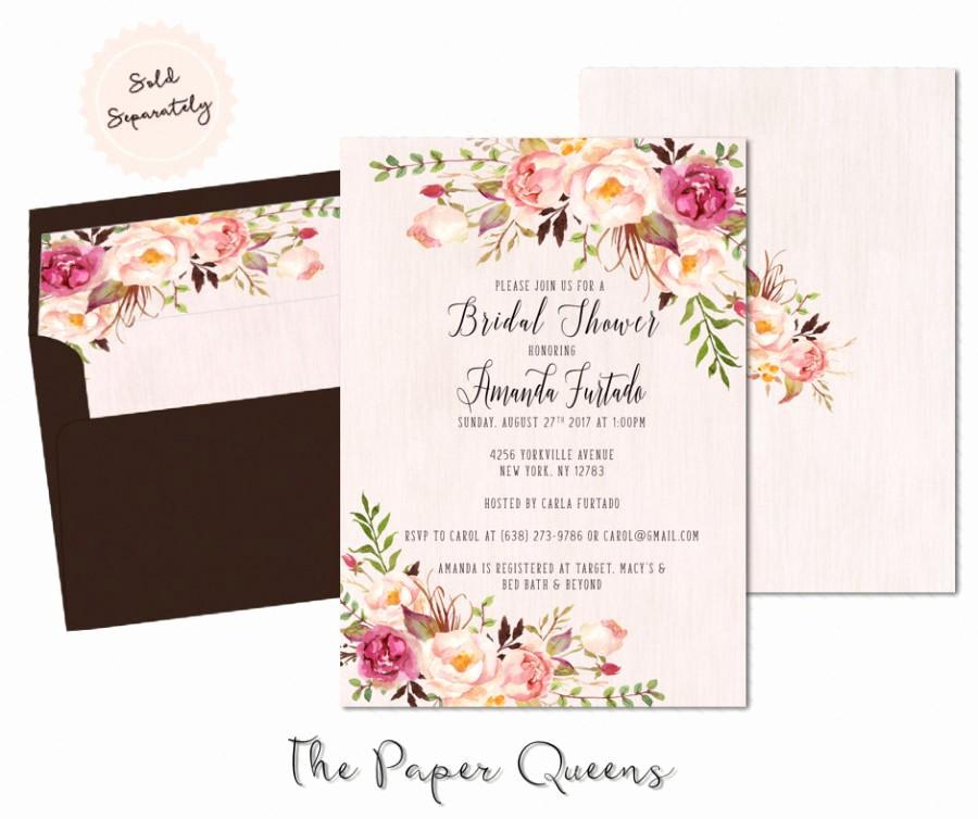 Free Printable Bridal Shower Invitations Lovely Bridal Shower Wedding Invitation Printable Invitation