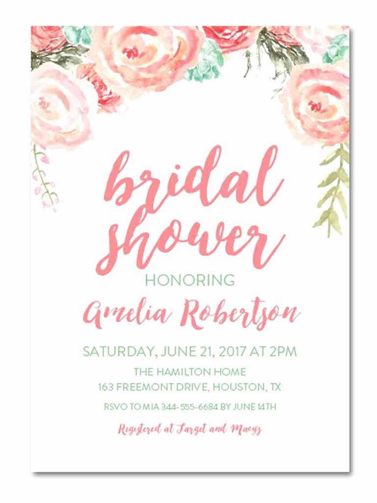Free Printable Bridal Shower Invitations Lovely Printable Bridal Shower Invitations You Can Diy