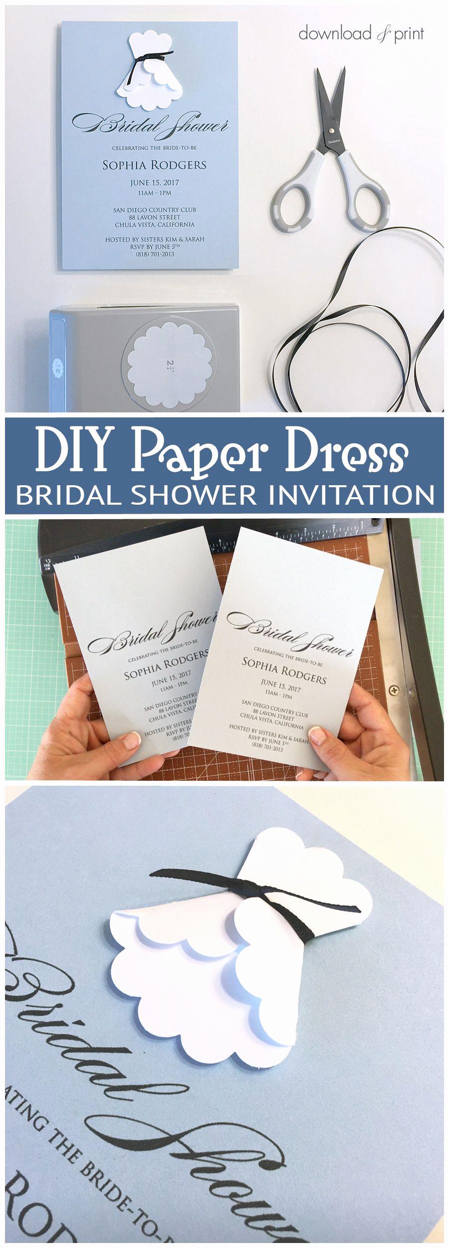 Free Printable Bridal Shower Invitations Lovely Sweet and Simple Bridal Shower Invitation with A Diy Paper