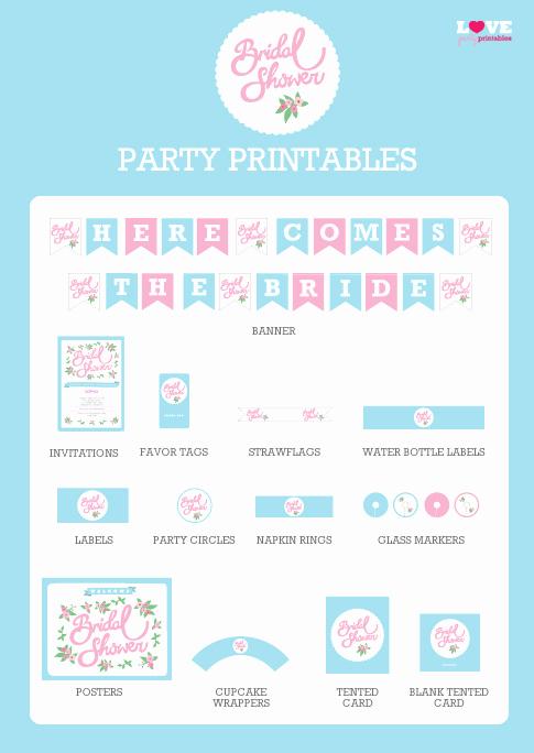 Free Printable Bridal Shower Invitations Luxury Free Bridal Shower Party Printables From Love Party