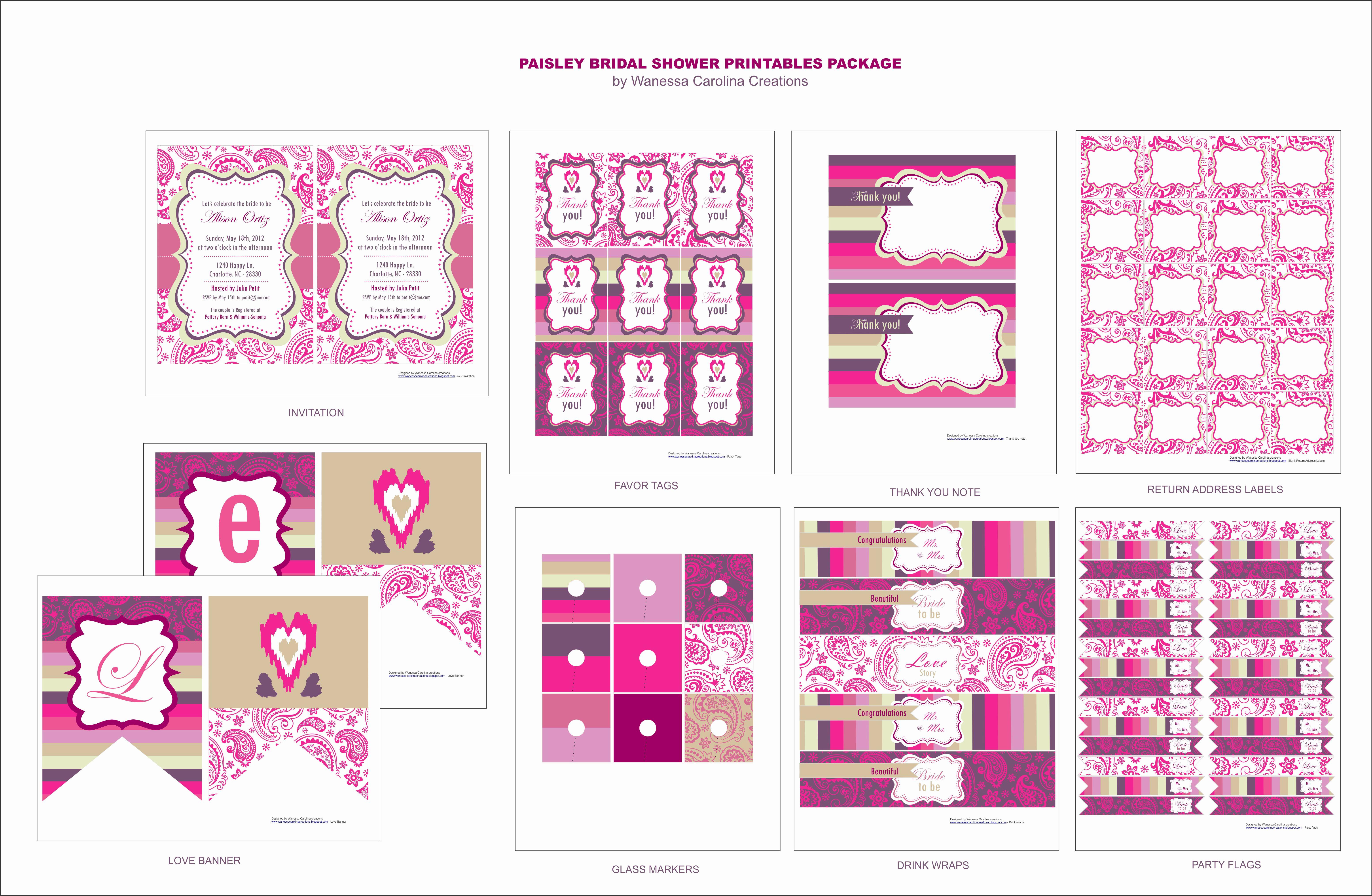 Free Printable Bridal Shower Invitations Luxury Free Bridal Shower Printables From Wanessa Carolina