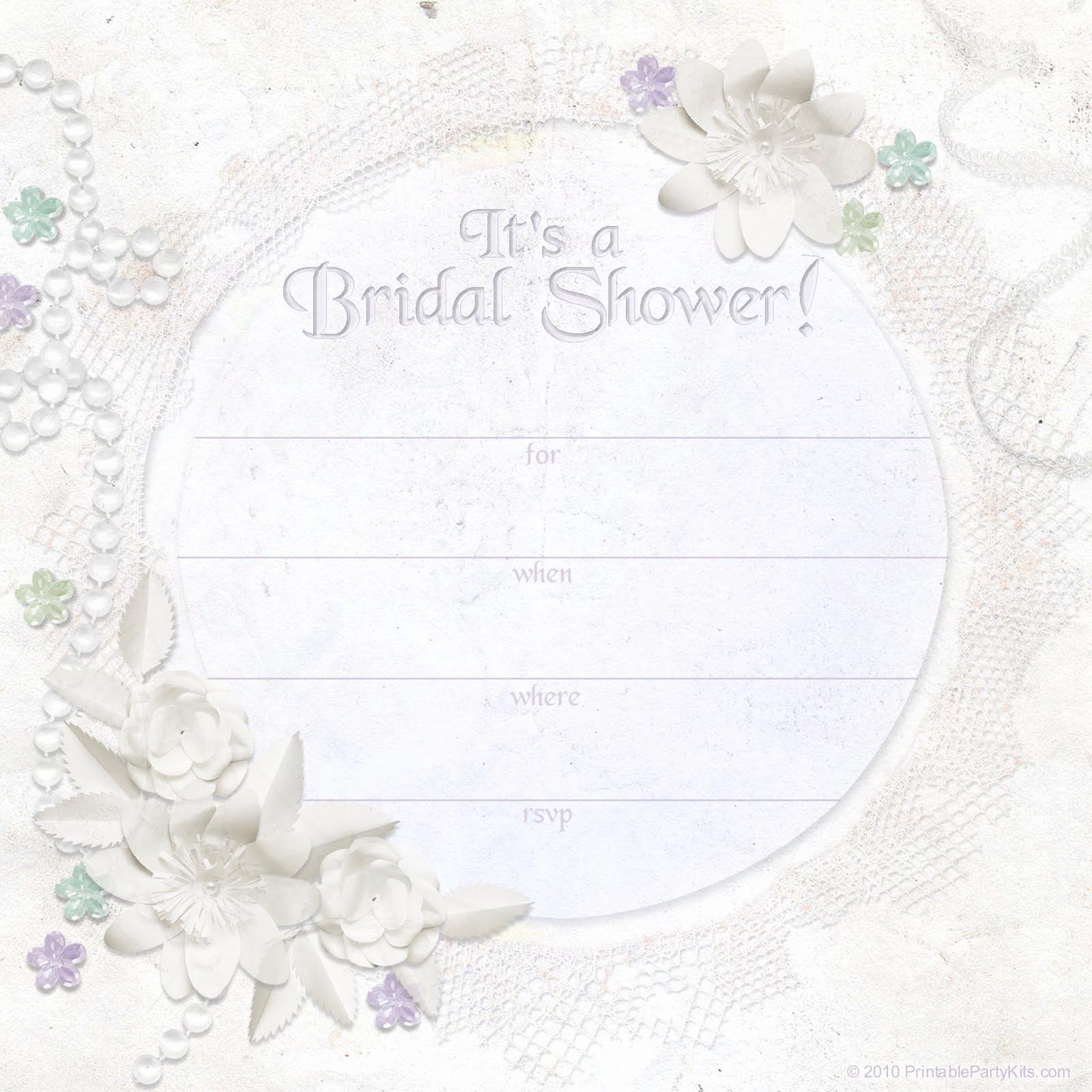 Free Printable Bridal Shower Invitations Luxury Free Printable Party Invitations Ivory Dreams Bridal