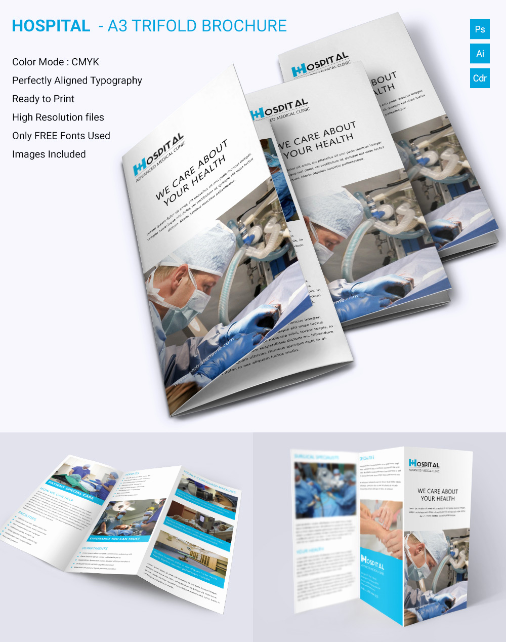 Free Printable Brochure Templates Beautiful Medical Brochure Template – 39 Free Psd Ai Vector Eps