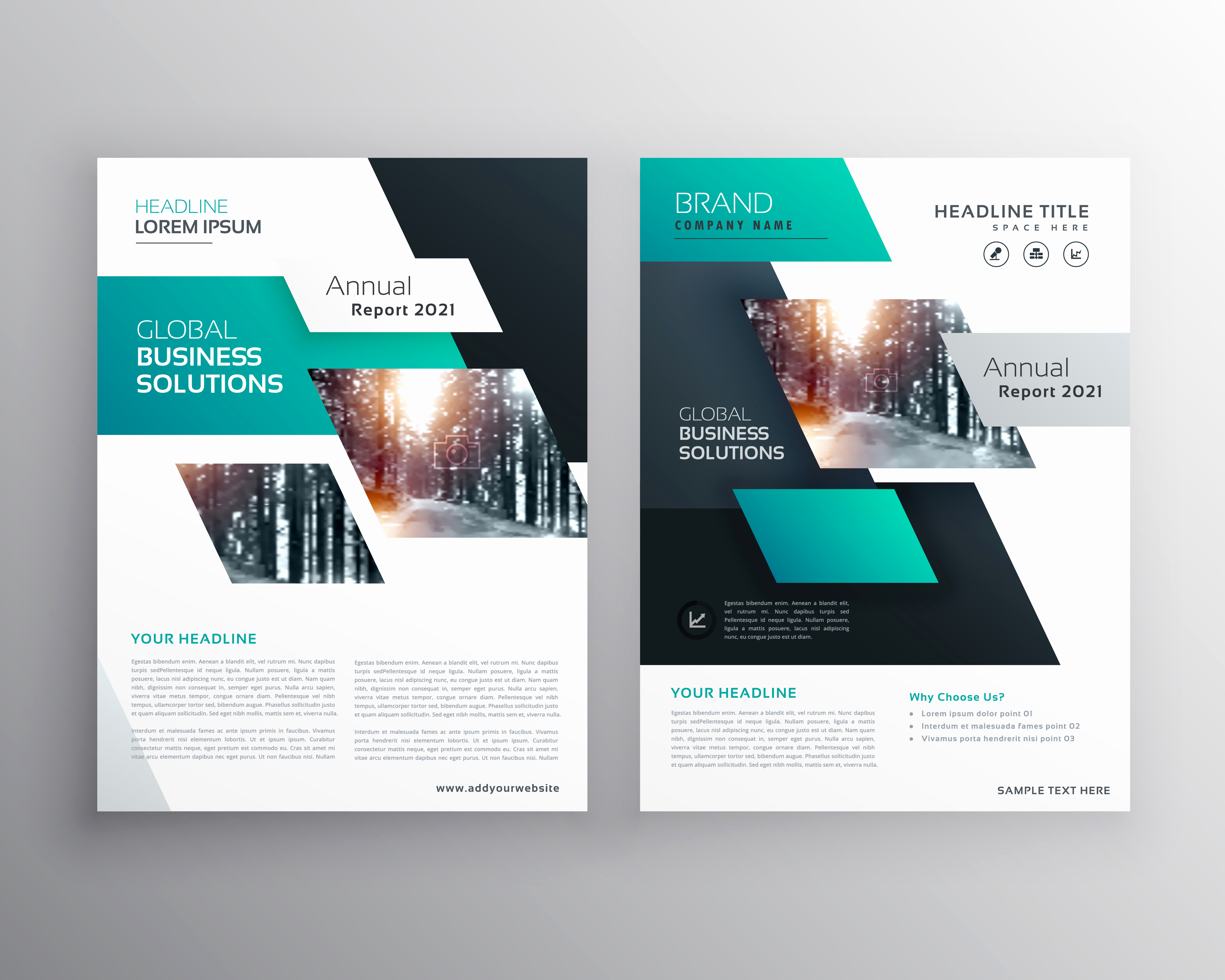 Free Printable Brochure Templates Fresh Geometric Business Brochure Flyer Design Vector Template
