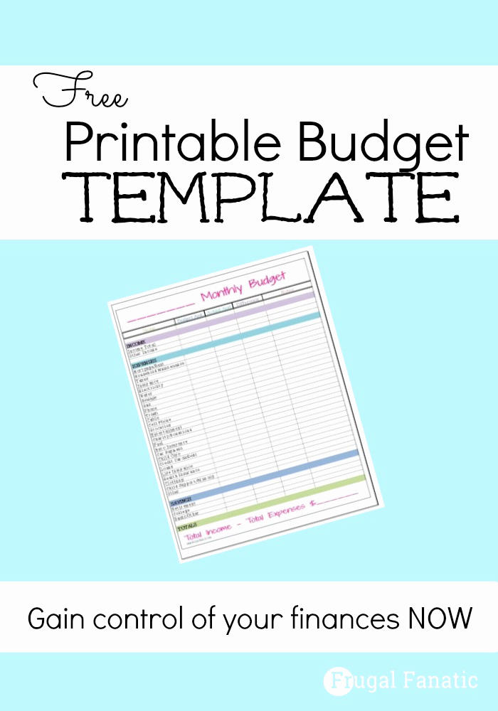Free Printable Budget Templates Luxury Free Monthly Bud Template Frugal Fanatic