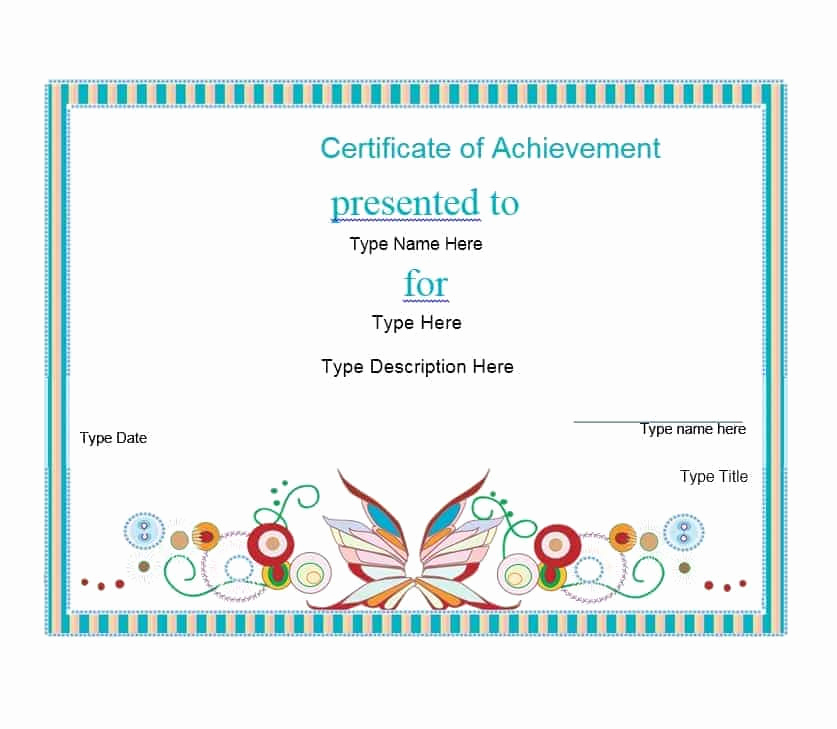 Free Printable Certificate Templates Beautiful 40 Great Certificate Of Achievement Templates Free