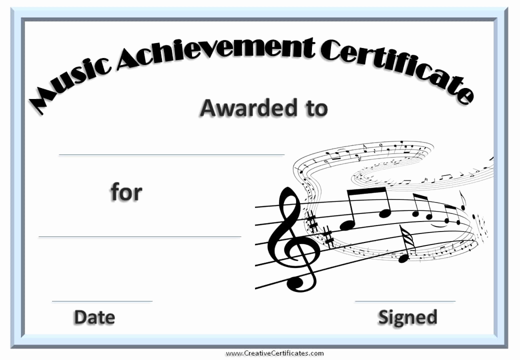 Free Printable Certificate Templates Best Of Free Editable Music Certificate Template Free and