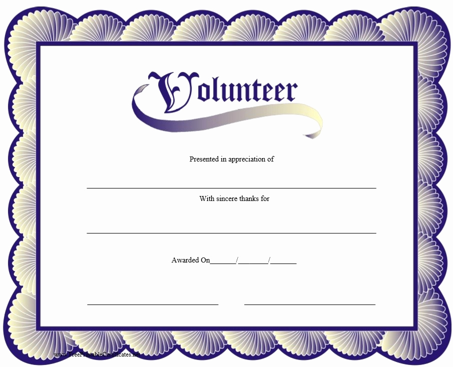 Free Printable Certificate Templates Fresh 9 Free Sample Volunteer Certificate Templates Printable