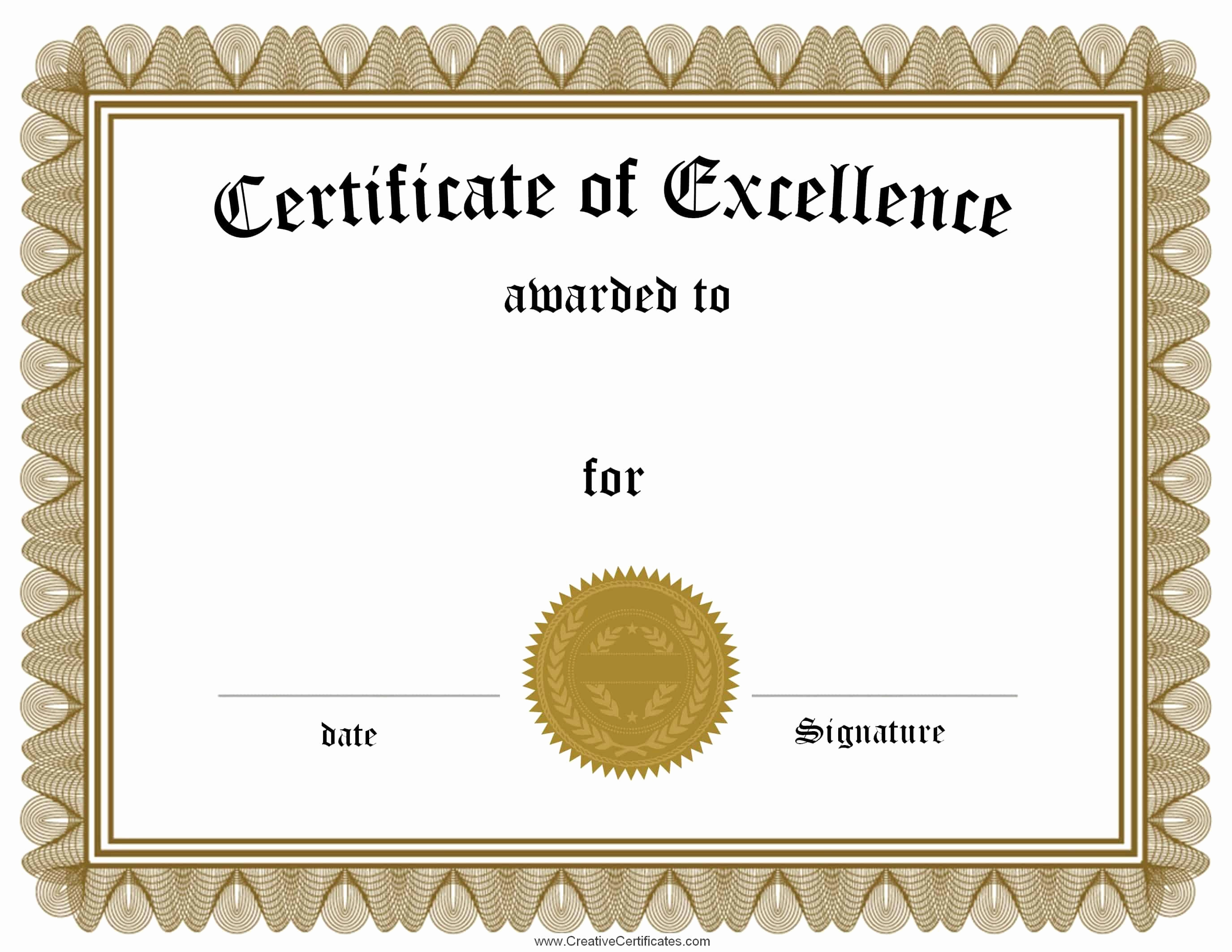 Free Printable Certificate Templates Fresh Free Customizable Certificate Of Achievement