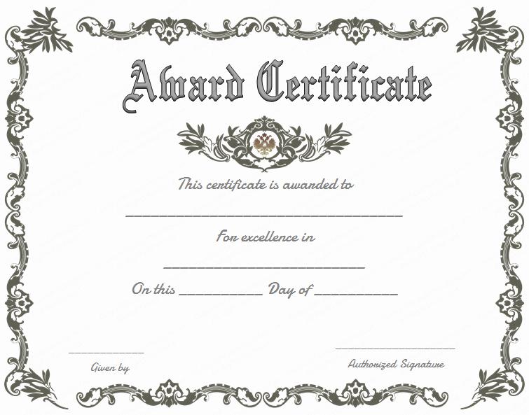 Free Printable Certificate Templates Fresh Free Printable Certificate Of Recognition Google Search