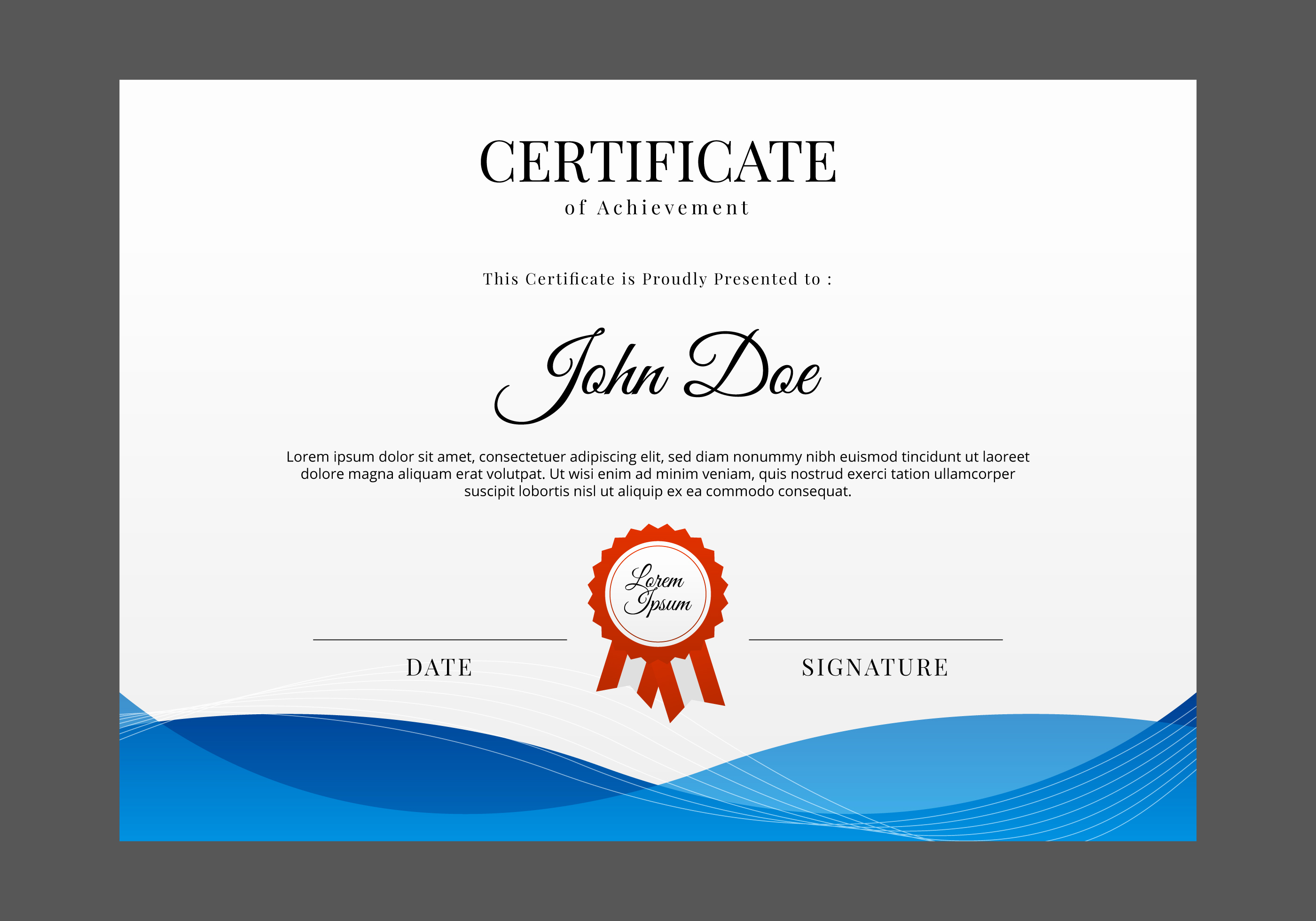 Free Printable Certificate Templates Inspirational Free Certificate Template Vector Download Free Vector