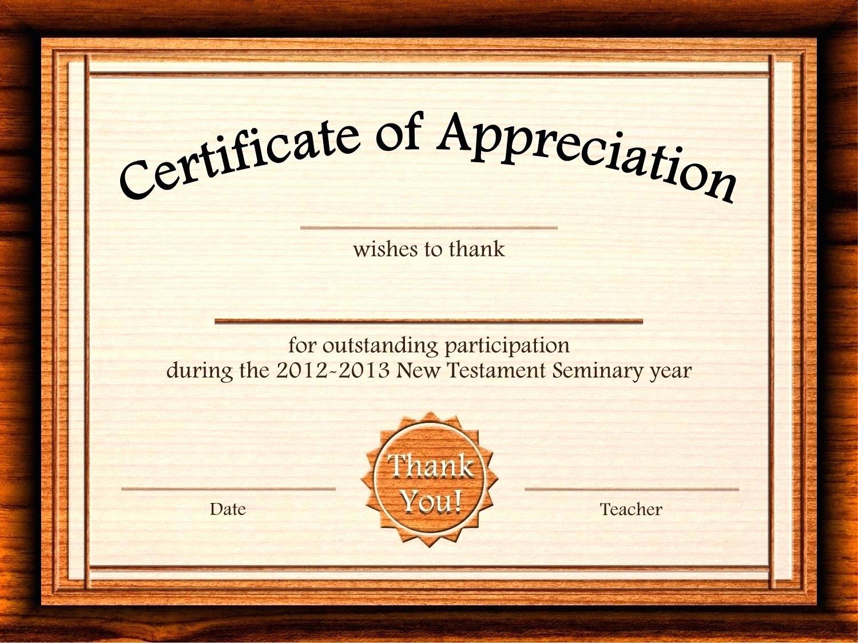 Free Printable Certificate Templates Luxury Template Editable Certificate Appreciation Template