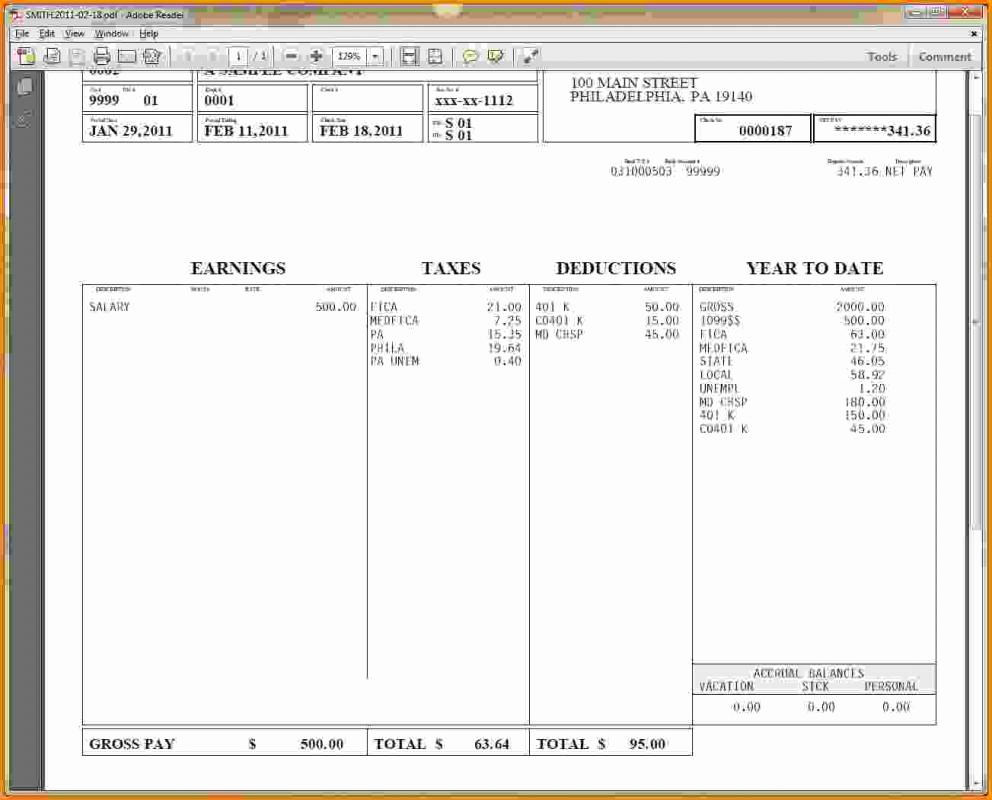 Free Printable Check Stubs Awesome Pay Stub Template Free