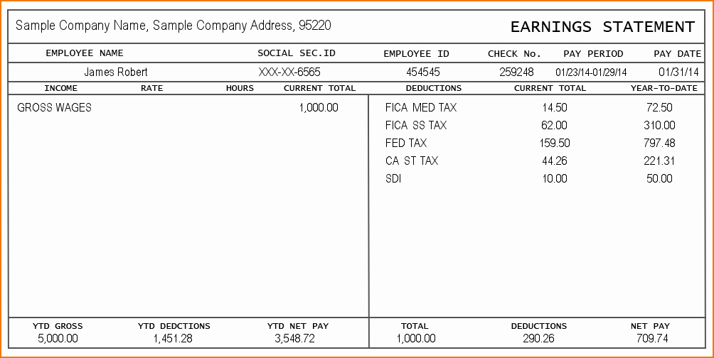 Free Printable Check Stubs Luxury 7 Pay Stub Generator