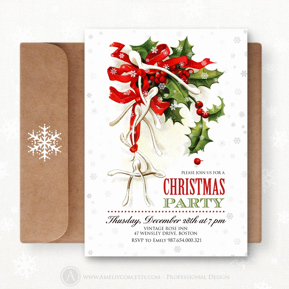Free Printable Christmas Invitations Awesome Christmas Printable Invites Editable Christmas Party by