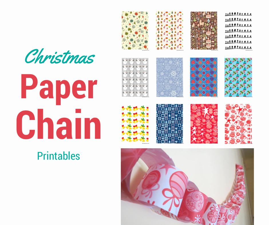Free Printable Christmas Paper Awesome Christmas Paper Chain – Be A Fun Mum