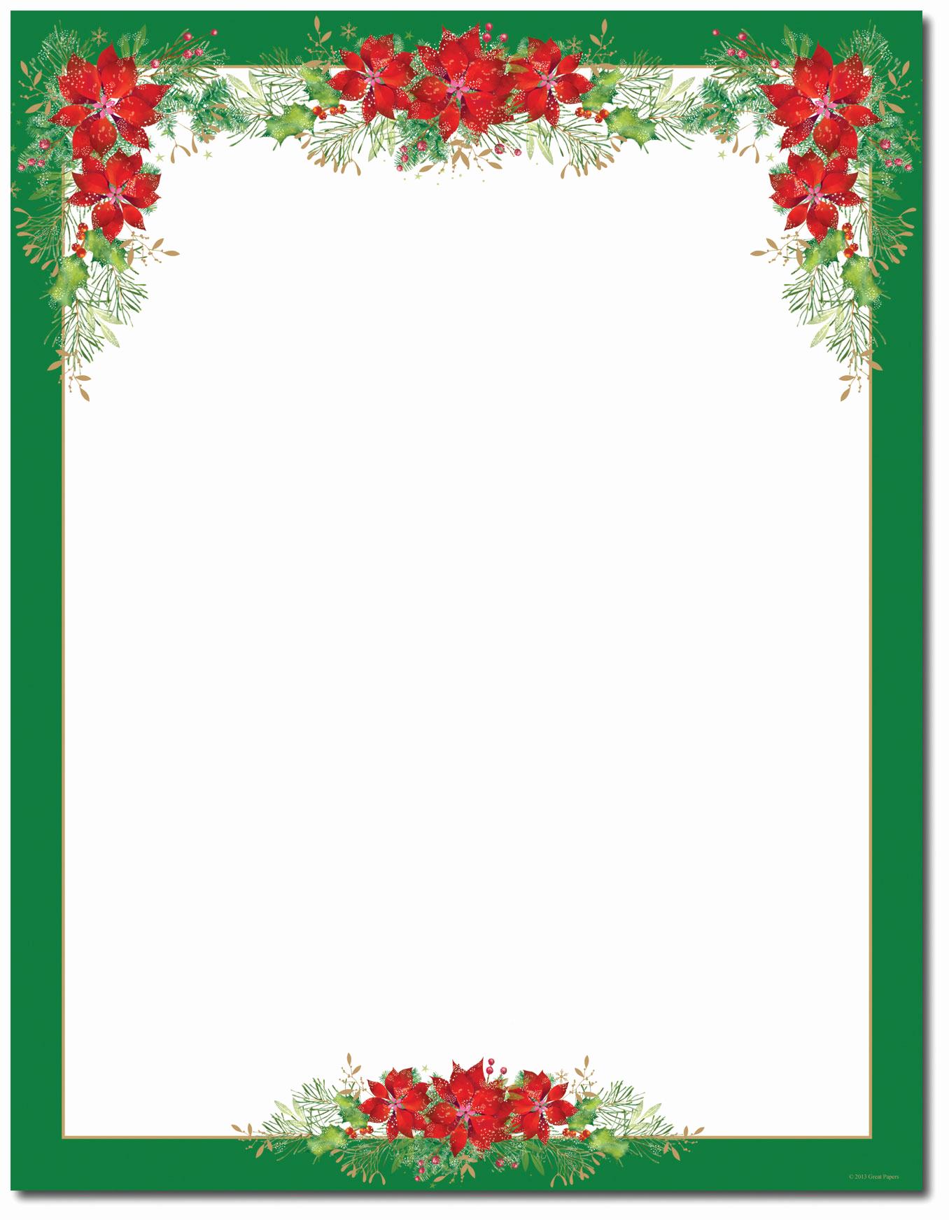 Free Printable Christmas Paper Beautiful Christmas Stationery Printer Paper