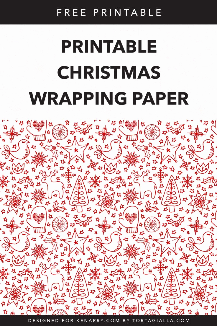 Free Printable Christmas Paper New Printable Christmas Wrapping Paper Free Download