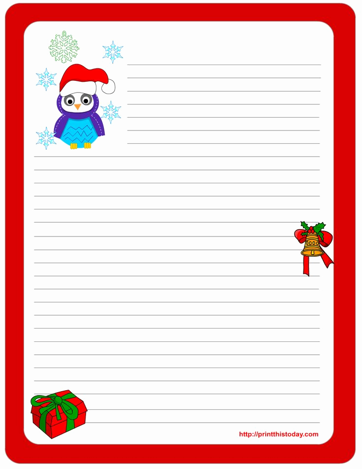 Free Printable Christmas Stationery Paper Awesome 111 Best Christmas Stationery Images On Pinterest