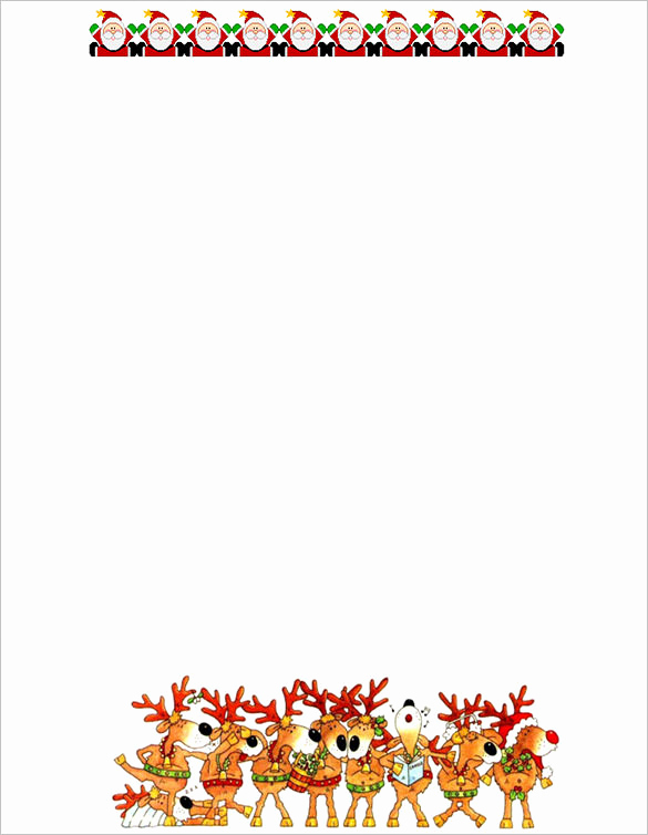 Free Printable Christmas Stationery Paper Awesome 17 Christmas Paper Templates Doc Psd Apple Pages