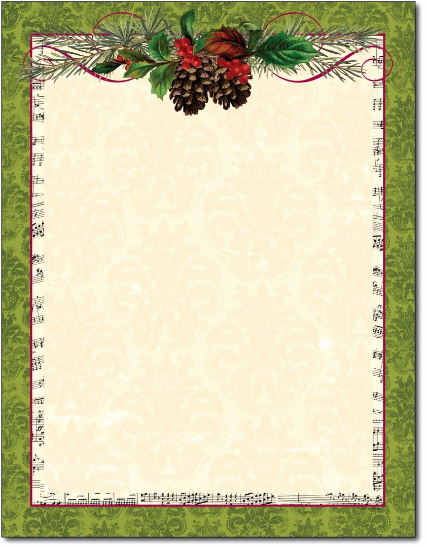 Free Printable Christmas Stationery Paper Beautiful Free Printable Christmas Paper Stationery Google Search