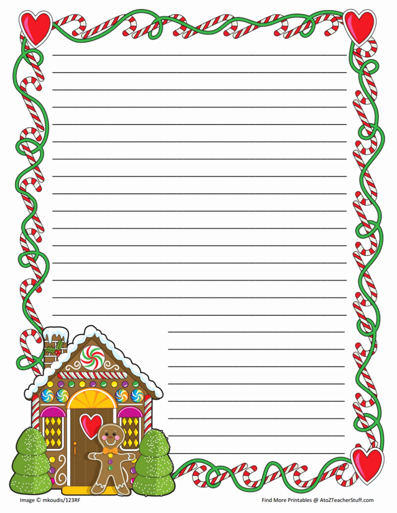 Free Printable Christmas Stationery Paper Best Of Gingerbread Printable Border Paper with and without Lines