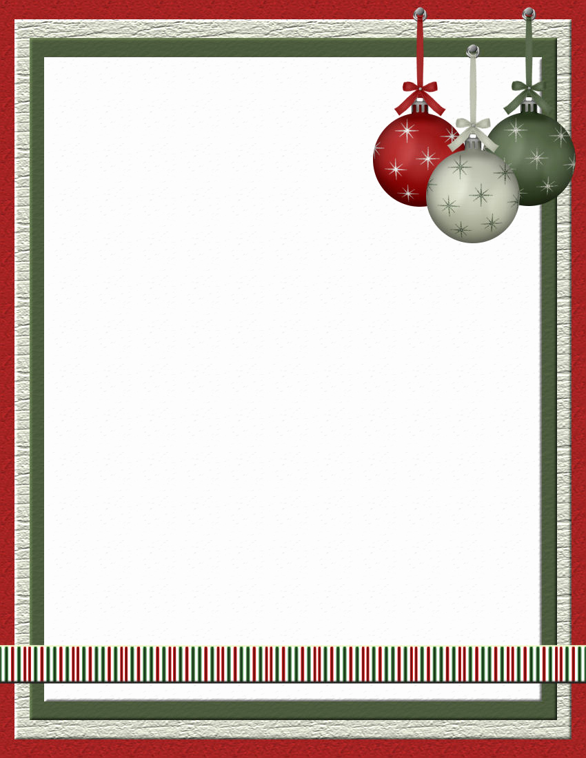 Free Printable Christmas Stationery Paper Lovely Christmas 2 Free Stationery Template Downloads