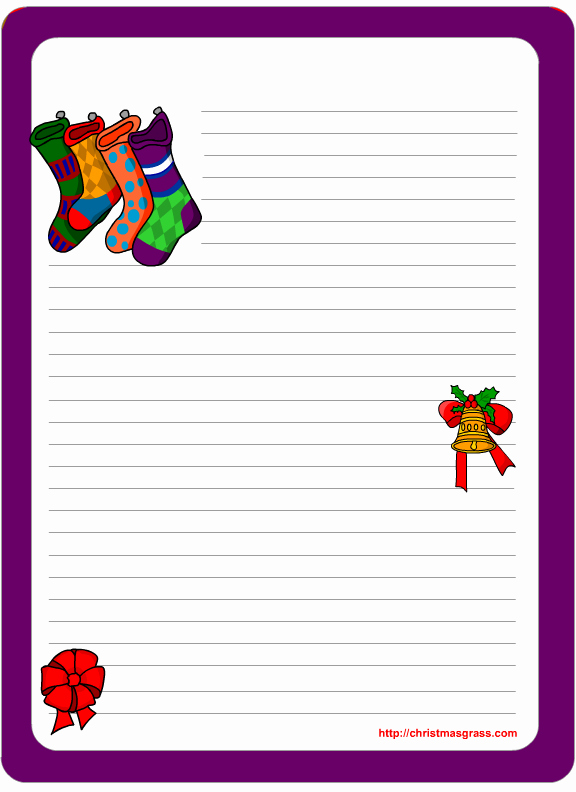 Free Printable Christmas Stationery Paper Lovely Christmas Stationery Printables