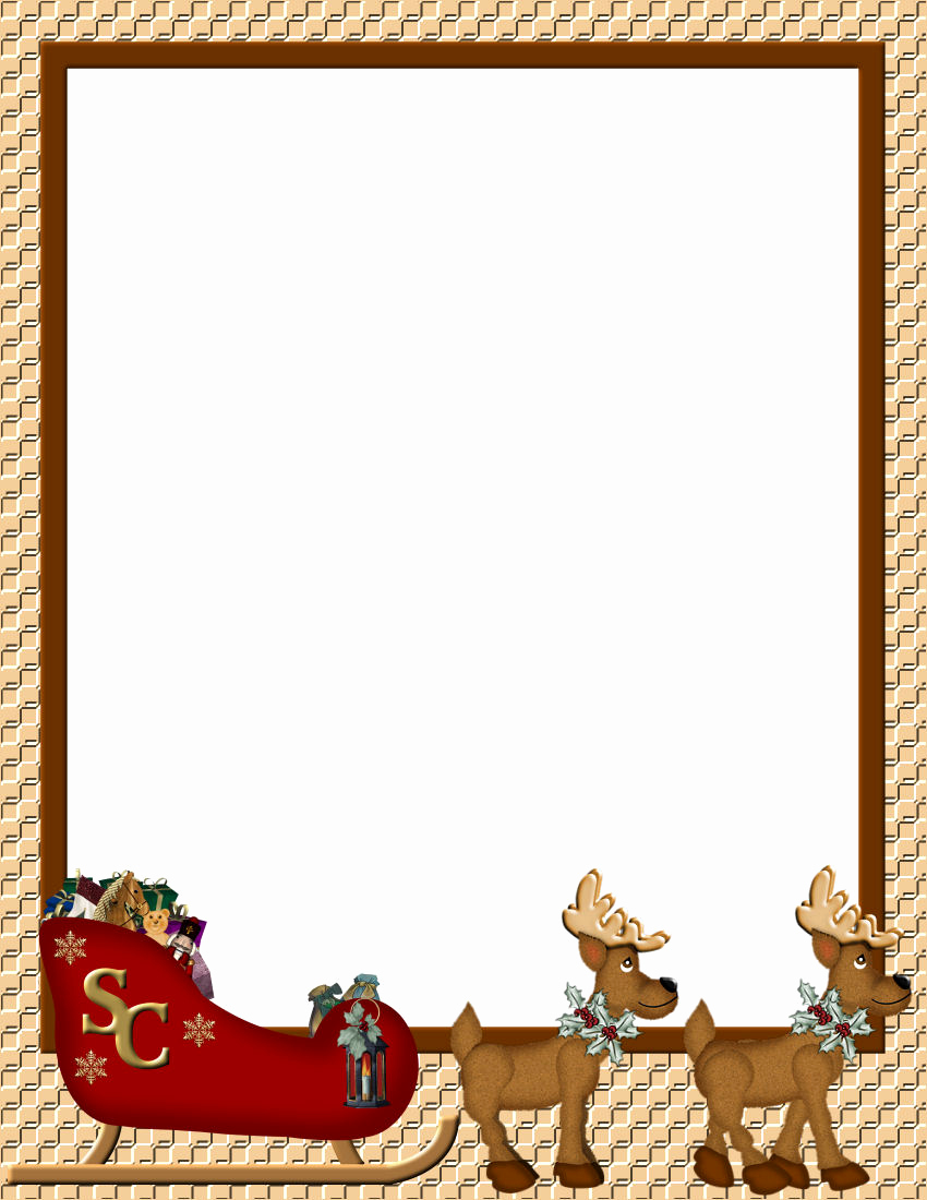 christmas stationery papers