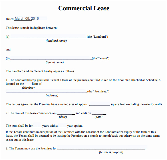 Free Printable Commercial Lease Agreement Lovely 10 Sample Mercial Lease Agreements